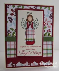 Angel Wings Card Designed by Melody Rupple #Christmas