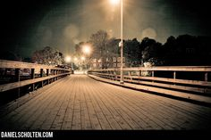 Artificial Night Photography in Duotone Beckholmsbron by Daniel Scholten.