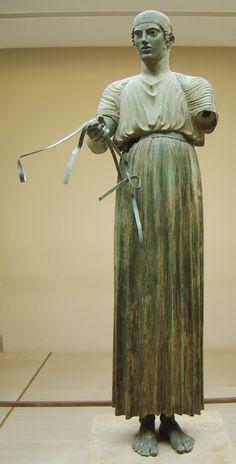Auriga de Delfos es la denominación historiográfica de una obra maestra de la escultura griega del denominado estilo severo (transición entre la escultura arcaica y la clásica).