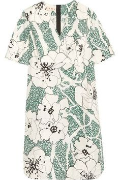 Marni - Floral-print Cotton Dress - Green - IT
