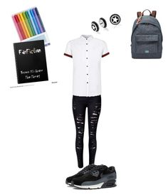 """hi"" by kljones-payne ❤ liked on Polyvore featuring Topman, FOSSIL, NIKE and Bling Jewelry"