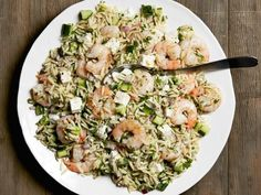 Get Roasted Shrimp and Orzo Recipe from Food Network