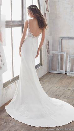 morilee spring 2017 bridal sleeveless sheer bateau sweetheart neckline heavily embellished bodice romantic fit and flare wedding dress modified a  line overskirt open back chapel train (5503) bv