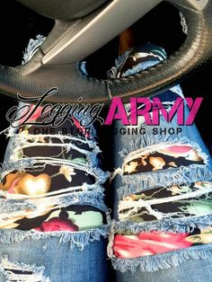 Wearing leggings under pants is a whole other fashion statement! Make your statement today in Legging Army patterns!