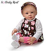Sweet Brown-Eyed Girl Baby Doll