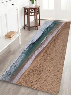 Seabeach Printed Indoor Outdoor Area Rug - COLORMIX W24 INCH * L71 INCH