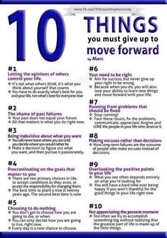 The ten things you must give up to move forward - #Life, #LifeTips