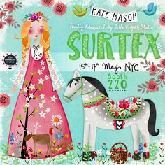 Surtex Announcement 2016. Katemason.com.au Instagram.com/KateMasonArtist - my amazingly talented cousin