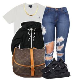 """2/18/16"" by xtaymaxlovesxmisfitx ❤ liked on Polyvore featuring Polo Ralph Lauren, Louis Vuitton and NIKE"