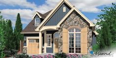 Image for Sherwood-European Cottage Plan with High Ceilings-Front Rendering