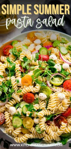 This pasta salad is super versatile - you can make lots of swaps, depending on what you have in. Ideal for that summer cookout, the Italian dressing is a perfect way to dress up that salad. #pastasalad #summerfood #italiandressing #italianpastasalad #summerpastasalad #bbqsidedishes Summer Pasta Salad, Easy Pasta Salad, Pasta Salad Italian, Pasta Salas, Healthy Tuna, Grilled Chicken Salad, Best Instant Pot Recipe, Italian Dressing, Avocado Salad