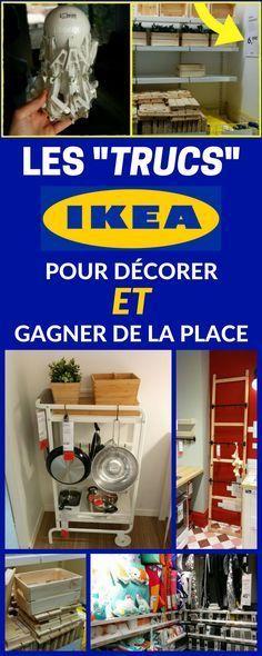 """Quelques """"trucs & astuces"""" repérés chez IKEA pour décorer ET gagner de la place (en même temps) partout dans la maison..."""