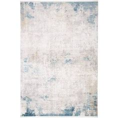 Delacora Haven x Viscose Vintage Rectangular Throw Ivory / Blue Home Decor Rugs Throw Rugs Calming Colors, Blue Home Decor, Grand Bazaar, Neutral Paint, High Fashion Home, Online Home Decor Stores, Throw Rugs, Handmade Rugs, Abstract Pattern