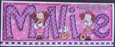 Card Gallery - Large DL Birthday MILLIE Girlz & 3D decoupage