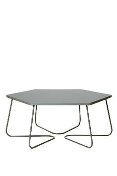 Hexagon Coffee Table in Grey - Urban Outfitters
