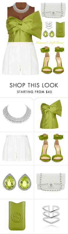 """""""#short#hookedonstyle"""" by liligwada ❤ liked on Polyvore featuring Merchant Archive, Elie Saab, Gianvito Rossi, Allurez, Karl Lagerfeld, Gucci and Astrid & Miyu"""