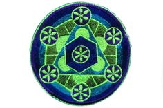sacred geometry - patch - element aether flower of life blacklight active Flower Of Life, Design Show, Sacred Geometry, Psychedelic, Patches, Flowers, Goa, Consciousness, Beautiful