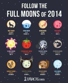 Full Moon tomorrow, Monday, February at EST. Which Moon do you like best? I'm partial to the Pink Moon. Moon In Leo, Scorpio Moon, Sagittarius, Moon Astrology, Aries Zodiac, Full Moon 2016, Moon Hunters, Sturgeon Moon, Kalender Design