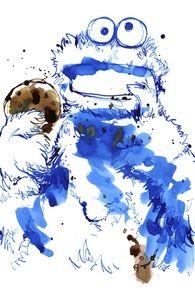 Cookie Monster in watercolor by Threadless - Mumm, Mumm, Mumm, Mumm Hero Shot
