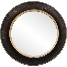 AllModern Tristin Modern & Contemporary Wall Mirror & Reviews   Wayfair Wall Mounted Mirror, Round Wall Mirror, Round Mirrors, Mirror Mirror, Contemporary Wall Mirrors, Rustic Contemporary, Modern Mirrors, Colored Dining Chairs, Beautiful Mirrors