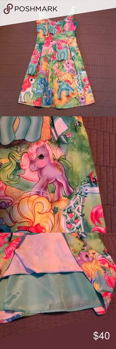 """🦄 Hot Topic Iron Fist My Little Pony Dress 🐴 Like new! Purchased from another Posher, but too small for me. 15"""" chest, 13"""" waist, 18.5"""" length from waist. Square neckline, v-back. Lined. Side zipper. Too cute! I repurchased in my size 😊 Iron Fist Dresses"""