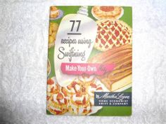 VINTAGE 1950 77 RECIPES USING SWIFTING BY MARTHA LOGAN POCKET COOKBOOK MAKE OWN