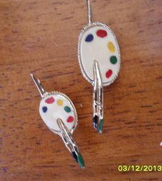 Vintage Paint Easle Scatter Pins Brooch Set, 1960