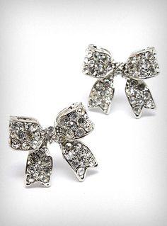 Brilliant Bow Stud Earrings