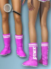 "VS ""Pink"" Booties @ All About Style"