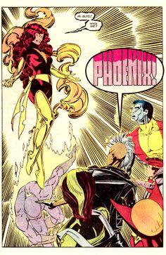 "Return of the Dark Phoenix by Paul Smith & Bob Wiacek - ""Hi, guys! Miss me?"""