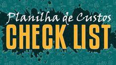 Planilha de Custos - Check List Portfolio, Youtube, Signs, Diy, Portfolio Design Layouts, Encouragement, Feather, Books, Important Documents
