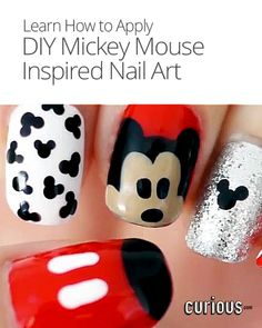 DIY Mickey Mouse Inspired Nail Art