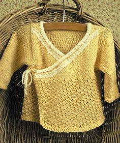Free Knitting Pattern for Kalari Baby Jacket