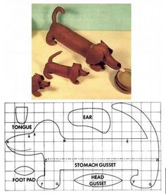 Patterns of a dog from fabric of a symbol of it will turn out even at beginners! 650 × 948 Pixel Source by Sew your own dachshund Pin by Jani on Nähen Free sewing pattern for an ad Dog Crafts, Felt Crafts, Fabric Crafts, Sewing Crafts, Sewing Projects, Animal Sewing Patterns, Felt Patterns, Stuffed Animal Patterns, Fabric Animals