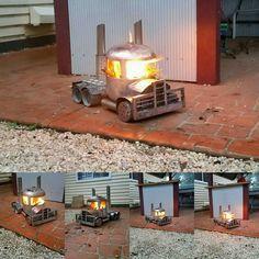 Truck fire pit