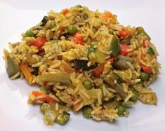 Arroz Basmati con verduras al curry - Mis Cosillas de Cocina Side Recipes, Light Recipes, Mexican Food Recipes, Vegetarian Recipes, Healthy Recipes, Ethnic Recipes, Basmati Rice Recipes, Couscous Recipes, Chicken Salad Recipes