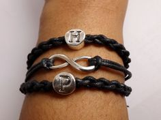 Deluxe Personalized Infinity Bracelet for Men & Women by DaisyBellBeads