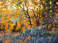 Hot Texas Afternoon by Robert Rohm Oil ~ 30 x 40