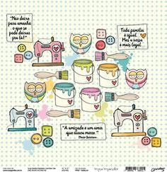 Goodies - Papel Meu Mundo / Hobby Art - Papéis de Scrapbook, Scrapbook  paper