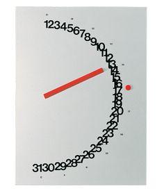MEZZA MERIDIANA Un occhio al passato e uno al futuro, è il calendario perpetuo nato dalla penna di Giulio Confalonieri per Nava Design #design #arredamento