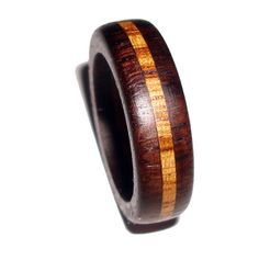 More wooden rings on this Etsy shop.  Wood Ring Wide Rosewood Zebrawood- Shipping Included. $32.00, via Etsy.