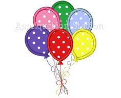 Sixth 6th Birthday Balloon Number Applique Machine Embroidery Design 6 Six INSTANT DOWNLOAD by AppliquetionStation on Etsy https://www.etsy.com/listing/152068533/sixth-6th-birthday-balloon-number