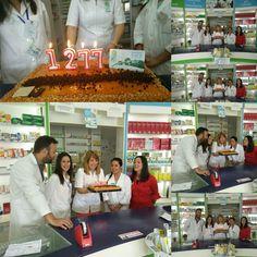 Soplando velas en #Farmacia Los Cruces en Lepe