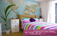world Map. Any colour Any size. From the UK