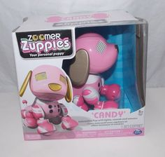 Zoomer Zuppies Candy Pink Personal Puppy Dog Toy Electronic Interactive #Spinmaster