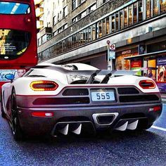 Stuck in traffic! Perfect time to show off the eye catching  Koenigsegg Agera