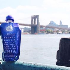 Finding our Calm by the water with soothing properties of blackberry and passion flower in our Calm #ShineOrganics pouch