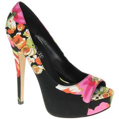 Aldo Lafera Floral Peep Toe Court Shoes found on Polyvore - I am more than a little in love with these shoes.