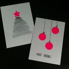 Oder wie man Weihnachtskarten schnell selbst basteln kann – Have you already written Christmas cards? Easy Diy Crafts, Christmas Crafts, Christmas Decorations, Create Christmas Cards, Christmas Tag, Navidad Simple, Diy Cards, Homemade Cards, Merry