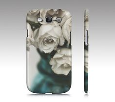Southern Elegance White Roses iPhone Case OR Samsung Galaxy Case